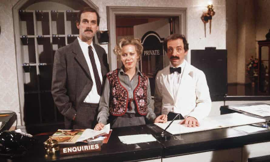 John Cleese, Connie Booth and Andrew Sachs