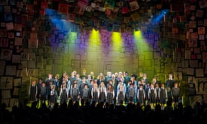 Tim Minchin and Dennis Kelly join the Matilda the Musical cast at curtain call, Sydney.