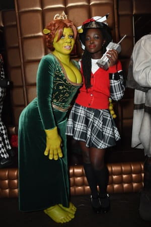2018Heidi Klum as Fiona from Shrek and Lupita Nyong'o as Dionne from Clueless