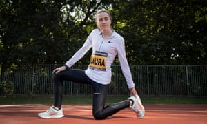Laura Muir at the Tooting Bec athletics track. 'I can count the paracetamols I've taken on one hand. I don't like taking anything.'