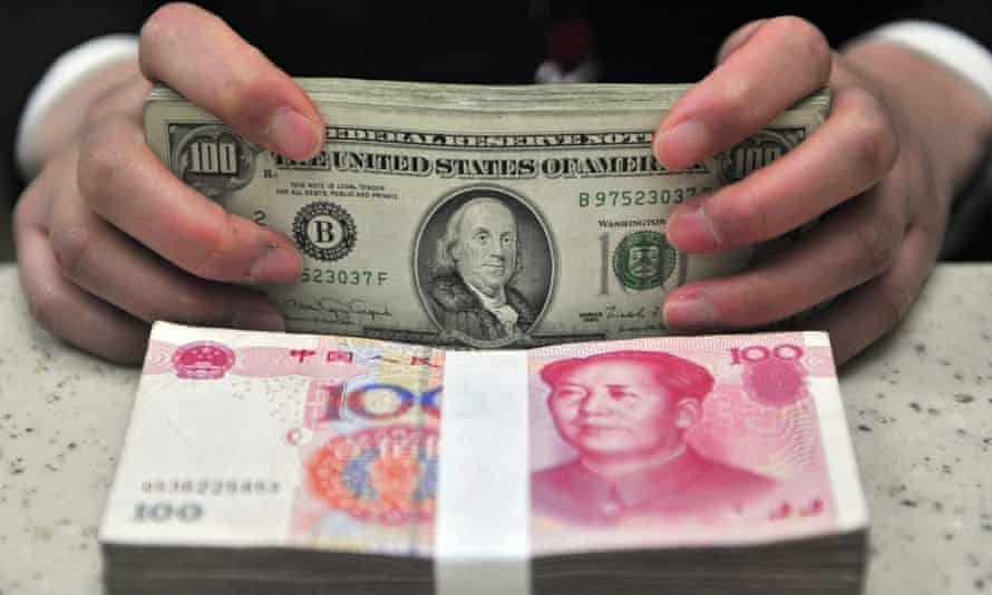 A rising dollar would put pressure on the yuan.