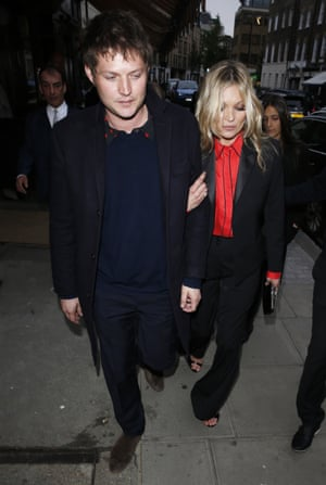Kate Moss and Nikolai von Bismarck at the Chiltern Firehouse.