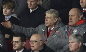 Arsène Wenger watches Arsenal's FA Cup tie at Southampton from the directors' box