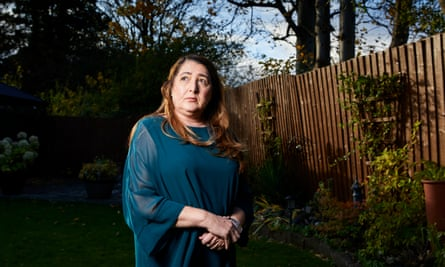 """Penny Ogden at home in Liverpool. 'My dad just says, 'what have I done wrong? I've lost all my family',"""" she says."""