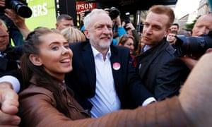 Jeremy Corbyn campaigning in Glasgow.