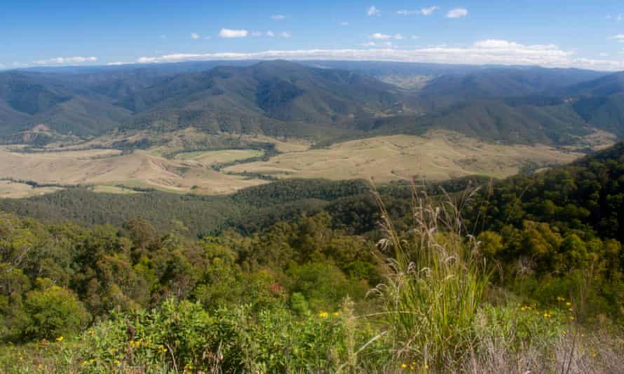 Barrington Tops National Park seen from Carsons Lookout on Thunderbolts Way Near Gloucester New South Wales Australia. Image shot 2012. Exact date unknown.