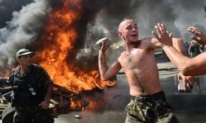 Clashes in Kiev in summer 2014.