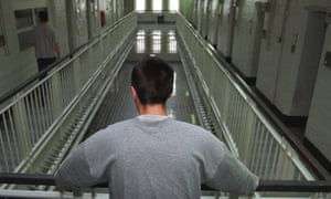 Young inmate on prison wing