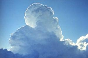 A cloud created by cloud seeding.