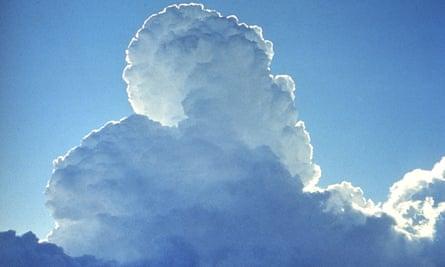 A cloud created by cloud-seeding.
