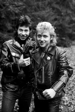 Rock music fans wearing leathers in the USSR