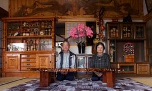 Kohei and Tomoko Yamauchi at their home in Naraha