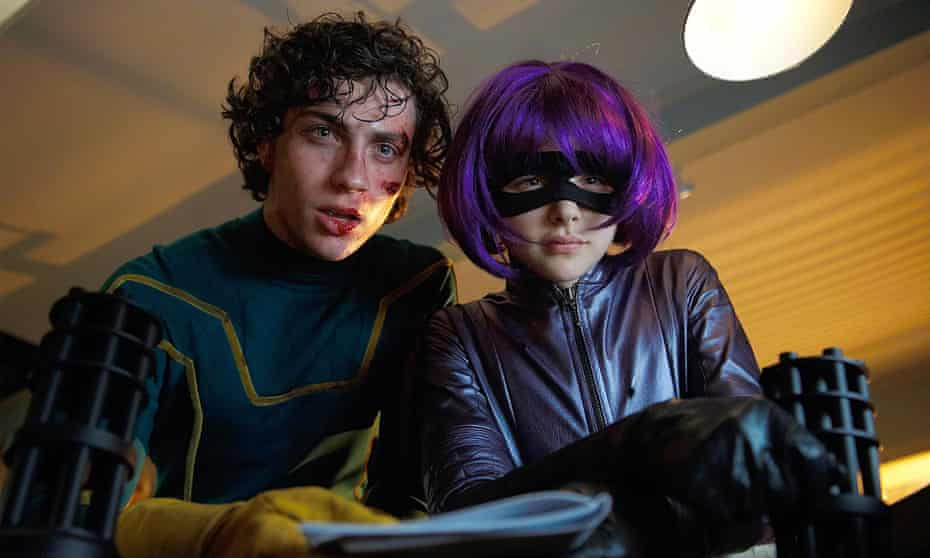 Ultraviolent irony … Aaron Johnson-Taylor and Chloe Grace Moretz in Kick-Ass 2.