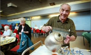 Pensioners at a community centre