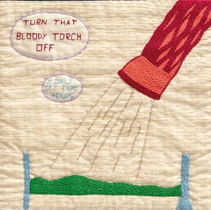 Turn that bloody torch off, from Tracy Chevalier's book The Sleep Quilt