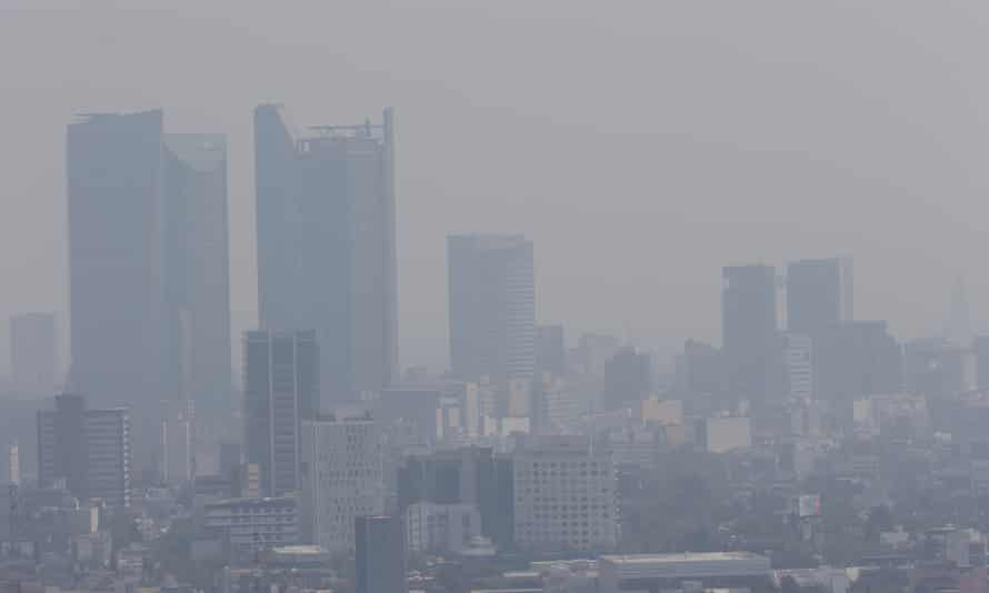 Smog over Mexico City in April