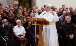 Pope Francis in Assisi, Italy.