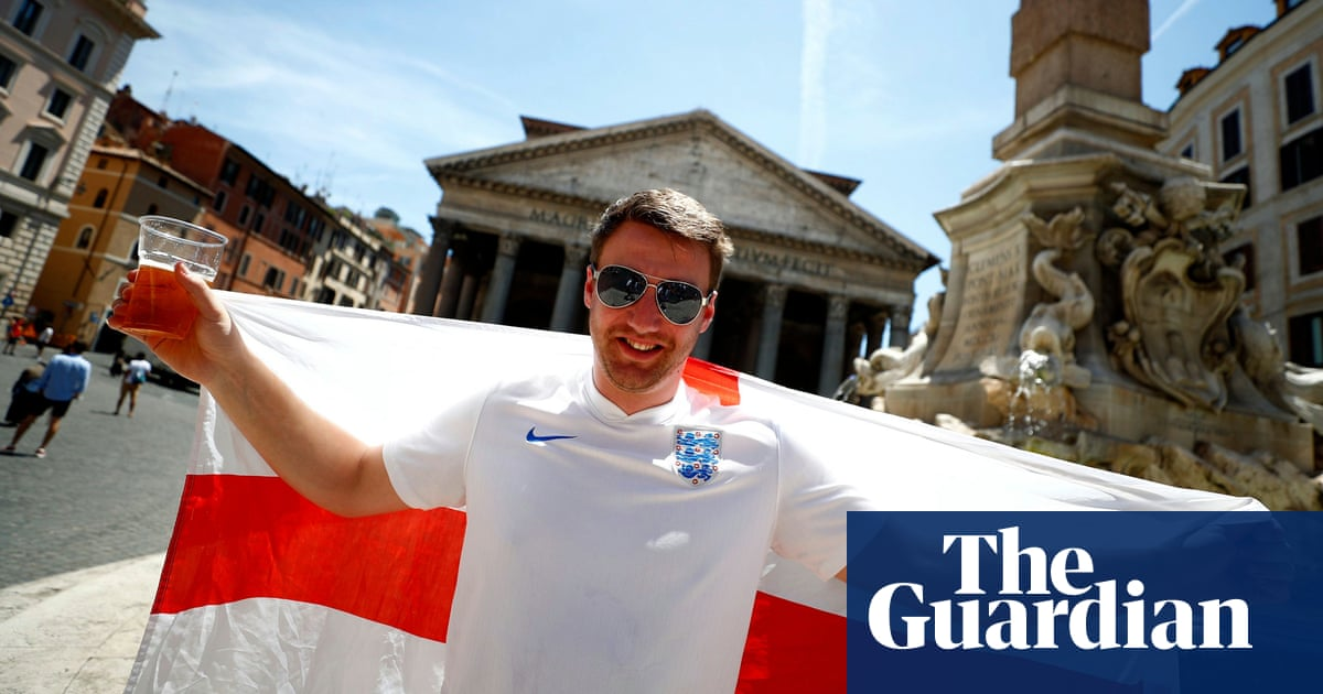 'It feels surreal': England fans arrive in Rome for Euro 2020 quarter-final