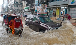 Flooding in Dhaka.