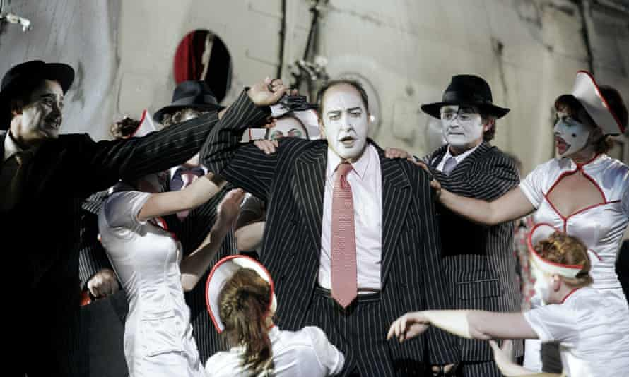 Rise and Fall of the City of Mahagonny, by Bertolt Brecht, staged by Harry Kupfer at the Dresden Semperoper, 2005. Kupfer cited Brecht as a major influence on his work.