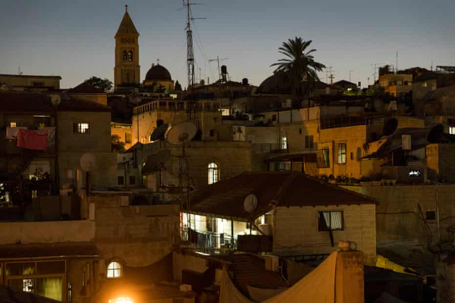 The view from Abu Yehia's roof in the Old City