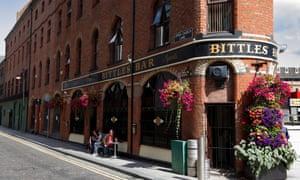 Victoria Street exterior of Bittles Bar, Belfast.
