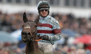 Richard Johnson pulls up on board Lalor in the Arkle Chase during day one of the Cheltenham Festival.