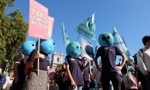 Climate strikes protest in London