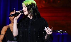 Billie Eilish at the 2020 Brits in London