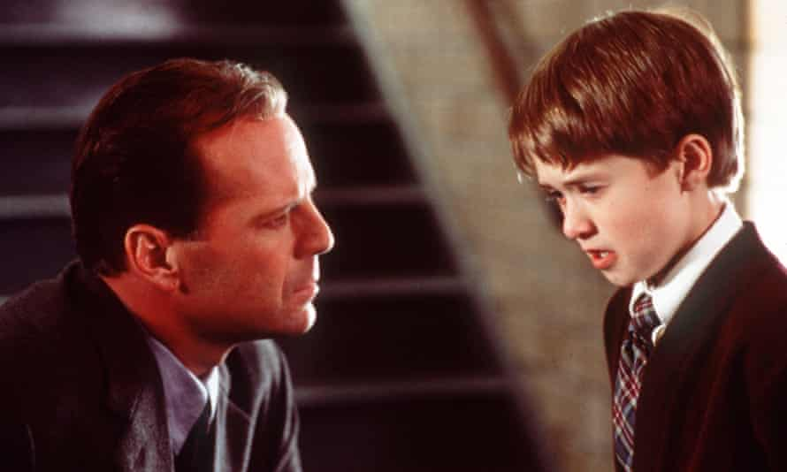 Bruce Willis and Haley Joel Osment in The Sixth Sense