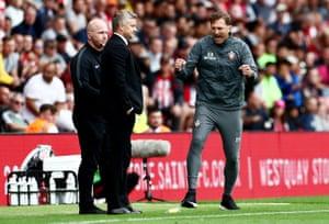 Southampton Manager Ralph Hasenhuttl celebrates at full time.