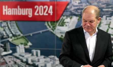Hamburg's mayor, Olaf Scholz