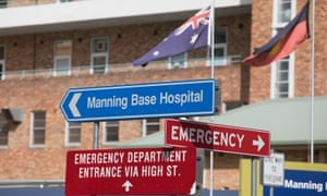 The entrance to the Manning Rural Referral Hospital, Taree.
