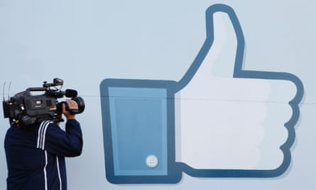 """Facebook's """"like button"""" as displayed at its California headquarters."""