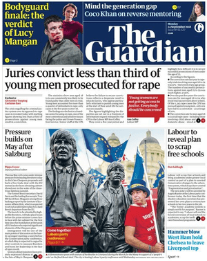 The Guardian front page 240918