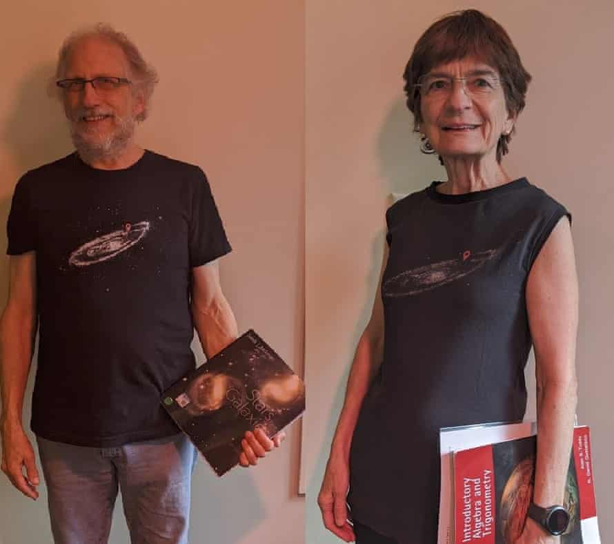 Ron Evans and Gina Bennett and in their matching outfits