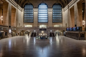 Grand Central Station at 3pm in New York City on 29 March 2020.