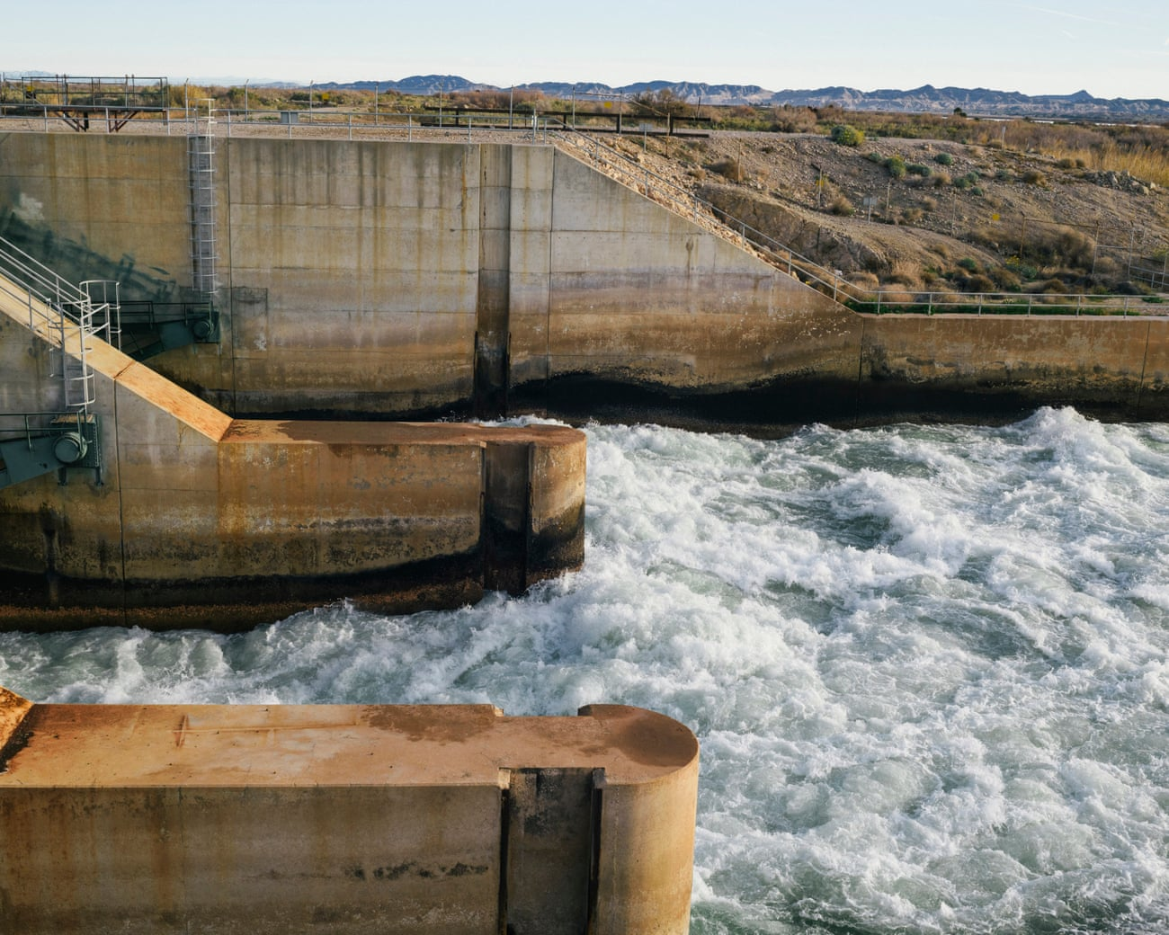 The Diversion Dam on the Lower Colorado River, regulated and monitored by the PVID, Blythe, California, USA, 2019
