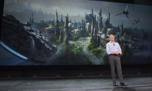 Bob Iger unveils the Star Wars-themed lands.