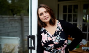 Iulia Hammond at home in south Manchester where she's been confined with symptoms of Covid-19 after contracting the disease in mid-March.