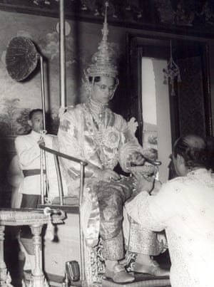 Bhumibol at his coronation in 1950.