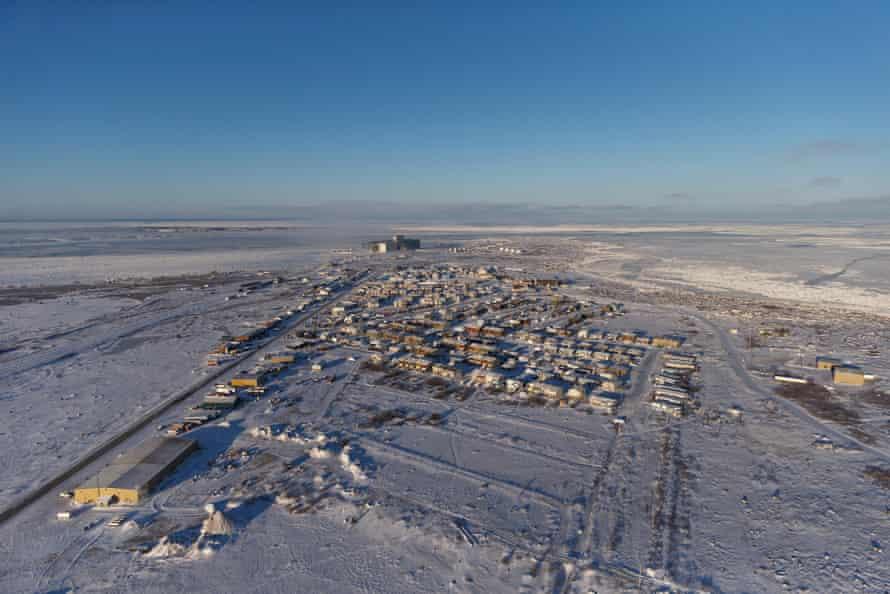 Aerial view of Churchill, Manitoba, Canada.
