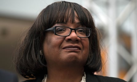 Diane Abbott campaigning during the general election