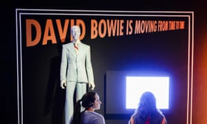 Visitors at the David Bowie Is exhibition in Groningen, Netherlands