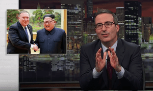 'Negotiating with North Korea is clearly the tightest of tightropes to walk'...John Oliver