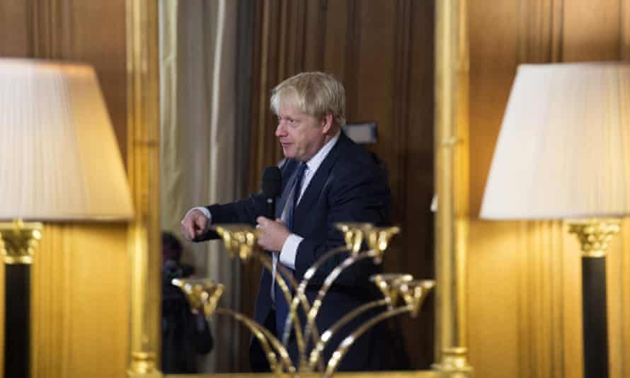 Holds parliament in contempt': Boris Johnson takes questions from young people in Downing Street last week