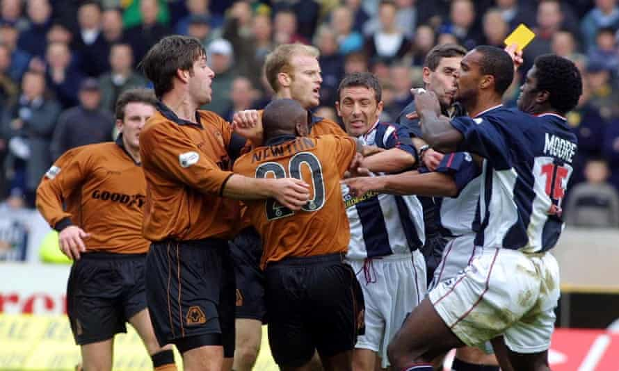 A particularly feisty edition of the Black Country derby, won by West Brom in 2001.