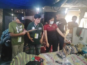 Philippines authorities in the Rizal house where a woman was arrested for allegedly sexually exploiting her own daughter.