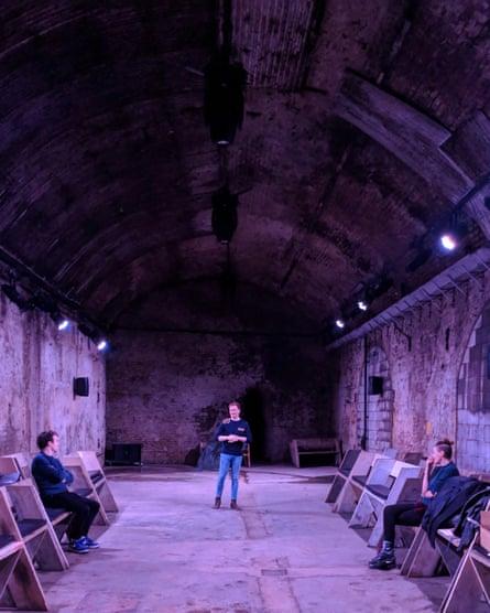 'It's so dank, I love it!' … Verspertilio's torchlit tunnel stage.