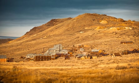 The gold rush ghost town of Bodie, east of the Sierra Nevada, California.